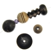 Horn Shape Beads Assorted Black